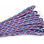 Paracord 330 Paracord red blue camouflage 4mm 5Strands/Lot 31m/Strand