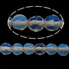 Sea Opal Beads, Round, faceted, blue, 4-4.5mm, Hole:Approx 0.5mm, Length:Approx 15.5 Inch, 5Strands/Lot, Approx 104PCs/Strand, Sold By Lot