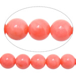 Natural Coral Beads Round pink 7mm Hole:Approx 1mm Length:16 Inch 10Strands/Lot