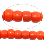 Natural Coral Beads Drum reddish orange 7-8x5-6mm Hole:Approx 1mm Length:Approx 16.5 Inch 10Strands/Lot Approx 77PCs/Strand