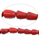 Natural Coral Beads Nuggets red 10-13x14-20mm Hole:Approx 1.5mm Length:Approx 16 Inch 10Strands/Lot Approx 25PCs/Strand