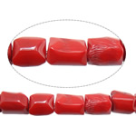 Natural Coral Beads Nuggets red 10-13x12-16mm Hole:Approx 1.2mm Length:Approx 16.5 Inch 10Strands/Lot Approx 28PCs/Strand