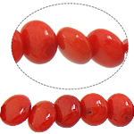 Natural Coral Beads Flat Round red 3x6mm Hole:Approx 1mm Length:Approx 15.5 Inch 10Strands/Lot Approx 71PCs/Strand
