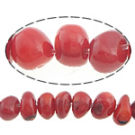 Natural Coral Beads, 6-8x5-6mm, Hole:Approx 0.5mm, Length:16 Inch, 10Strands/Lot, Sold by Lot
