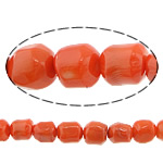 Natural Coral Beads, 14mm, Hole:Approx 1mm, Length:16 Inch, 10Strands/Lot, Sold by Lot