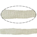 Wire Lace Ribbon, Brass, beige, nickel, lead & cadmium free, 10mm, Sold By m