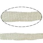 Koronkowa wstążka z drutem., Mosiądz, beżowy, bez zawartości niklu, ołowiu i kadmu, 10mm, sprzedane przez m