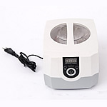Plastic Digital Ultrasonic Cleaner, white, 230x180x160mm, 175x145x70mm, Sold By PC