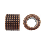 Zinc Alloy European Beads, Tube, antique copper color plated, without troll & large hole, nickel, lead & cadmium free, 9x7.5mm, Hole:Approx 5mm, 585PCs/KG, Sold By KG
