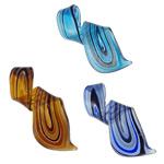 الذهب الرمل المعلقات امبورك, حلزون, صناعة يدوية, الرمال الذهبية والفضية احباط, الألوان المختلطة, 31x62x14mm, حفرة:تقريبا 6x11mm, 12أجهزة الكمبيوتر/مربع, تباع بواسطة مربع