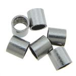 Roestvrijstaal Buis Kralen, 316 Roestvrij staal, oorspronkelijke kleur, 2x2mm, Gat:Ca 1.5mm, 2000pC's/Bag, Verkocht door Bag