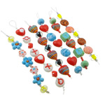 Fashion Hanging Decoration, mixed, with lampwork beads & glass spacer & steel wire, 13-20x9-19x12-13mm, Length:7 Inch, 20Strands/Lot, Sold by Lot