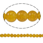 Crackle Glass Beads, Round, yellow, 8mm, Hole:Approx 1.5mm, Length:Approx 31.4 Inch, 10Strands/Bag, Sold By Bag