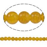 الخرز فرقعة الزجاج, زجاج, جولة, أصفر, 8mm, حفرة:تقريبا 1.5mm, طول:تقريبا 31.4 بوصة, 10جدائل/حقيبة, تباع بواسطة حقيبة