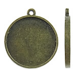 Zinc Alloy Pendant Cabochon Setting, Coin, antique bronze color plated, nickel, lead & cadmium free, 27x30.50x2.50mm, Hole:Approx 2mm, Approx 180PCs/KG, Sold By KG