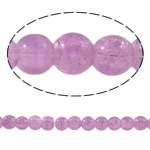 Crackle Glass Beads, Round, light purple, 6mm, Hole:Approx 1mm, Length:Approx 31.4 Inch, 10Strands/Bag, Sold By Bag