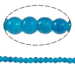 Crackle Glass Beads, Round, Peacock Blue, 4mm, Hole:Approx 1mm, Length:Approx 31.4 Inch, 10Strands/Bag, Sold By Bag