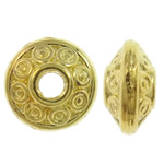 Zinc Alloy Jewelry Beads, Rondelle, gold color plated, nickel, lead & cadmium free, 6x3.5mm, Hole:Approx 1.5mm, Approx 2855PCs/KG, Sold By KG