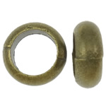 Zinc Alloy Jewelry Beads, Donut, antique bronze color plated, nickel, lead & cadmium free, 10x3.5mm, Hole:Approx 6.5mm, approx 1420PCs/KG, Sold by KG