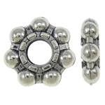 Zinc Alloy Jewelry Spacer, Flower, antique silver color plated, nickel, lead & cadmium free, 12x3mm, Hole:Approx 4mm, approx 760PCs/KG, Sold by KG