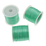 Elastic Thread, South Korea Imported, green, 0.5mm, Length:Approx 1750 m, 25PCs/Bag, Sold By Bag