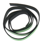Leather Cord, green, 12x2mm, Length:Approx 20 m, 20Strands/Bag, Sold By Bag