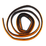 Leather Cord, orange, 10x2mm, Length:Approx 20 m, 20Strands/Bag, Sold By Bag