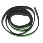 Leather Cord, green, 10x2mm, Length:Approx 20 m, 20Strands/Bag, Sold By Bag