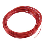 Aluminum Wire, electrophoresis, red, 1mm, Length:Approx 100 m, 10PCs/Bag, Sold By Bag
