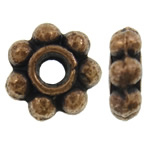 Zinc Alloy Spacer Beads Flower antique copper color plated nickel lead   cadmium free 6x2mm Hole:Approx 1.5mm Approx 5000PCs/KG