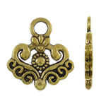 Zinc Alloy Pendants, antique gold color plated, nickel, lead & cadmium free, 18x20x1.50mm, Hole:Approx 3.5mm, Approx 665PCs/KG, Sold By KG