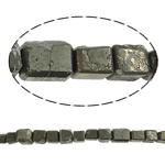 Gemstone Jewelry Beads, chalcopyrite, Rectangle, natural, 15mm, Hole:Approx 1.5mm, Length:15.7 Inch, 10Strands/Lot, Sold by Lot