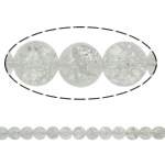 Round Crystal Beads, Round, natural, crackle, Crystal, 8mm, Hole:Approx 1.5mm, Length:15.7 Inch, 20Strands/Lot, Sold by Lot