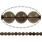 Quartz Jewelry Beads, smoky quartz, Round, natural, 14mm, Hole:Approx 1.5mm, Length:15.7 Inch, 20Strands/Lot, Sold by Lot