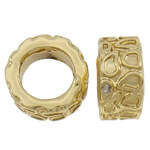 Zinc Alloy European Beads, Tube, gold color plated, without troll, nickel, lead & cadmium free, 12x6mm, Hole:Approx 7.5mm, approx 100PCs/Bag, Sold by Bag