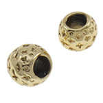 Zinc Alloy European Beads, Drum, gold color plated, without troll, nickel, lead & cadmium free, 9x8mm, Hole:Approx 4.5mm, approx 200PCs/Bag, Sold by Bag