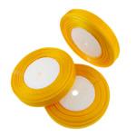 Organza Ribbon, yellow, 1.3cm, Length:Approx 2500 Yard, 50PCs/Lot, Sold By Lot