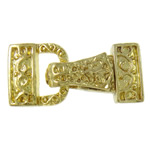 Zinc Alloy Magnetic Clasp, gold color plated, 3-strand, nickel, lead & cadmium free, 14x28x7mm, Hole:Approx 1.5mm, 10PCs/Bag, Sold By Bag