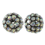 Rhinestone Jewelry Beads, 30x27.5mm, Hole:Approx 5.5mm, 2PCs/Bag, Sold by Bag