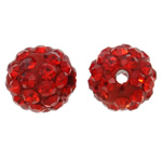 Rhinestone Clay Pave Beads, 10mm, Hole:Approx 1.5mm, 10PCs/Bag, Sold by Bag