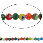 Glass Chevron Beads Round handmade mixed colors 6mm Hole:Approx 1mm Length:Approx 14.7 Inch 10Strands/Lot