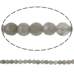 Natural Labradorite Beads, Round, faceted, 4mm, Hole:Approx 0.5mm, Length:16 Inch, 5Strands/Lot, Sold By Lot