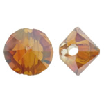 Imitation CRYSTALLIZED™ Element Crystal Beads, Nuggets, colorful plated, imitation CRYSTALLIZED™ element crystal, Fire Opal, 6x5mm, Hole:Approx 1.5mm, 50PCs/Bag, Sold By Bag