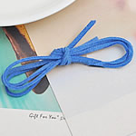 Velveteen Cord, rope chain, blue, 3mm, Length:Approx 1 m, 100Strands/Lot, Sold By Lot