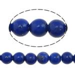 Koraliki Lapis Lazuli, Lapis lazuli naturalny, Koło, niebieski, 3mm, otwór:około 0.8mm, długość:około 16 cal, 2nici/wiele, około 134komputery/Strand, sprzedane przez wiele