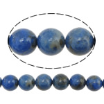 Natural Lapis Lazuli Beads, Round, acid blue, 8mm, Hole:Approx 1mm, Length:Approx 16 Inch, 3Strands/Lot, Approx 50PCs/Strand, Sold By Lot