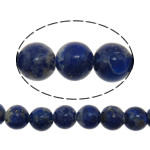 Natural Lapis Lazuli Beads, Round, blue, 6mm, Hole:Approx 1mm, Length:Approx 16 Inch, 5Strands/Lot, Approx 73PCs/Strand, Sold By Lot
