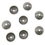RVS Kraalkapje, Roestvrij staal, oorspronkelijke kleur, 4x4x1.50mm, Gat:Ca 0.5mm, 300pC's/Bag, Verkocht door Bag