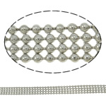 Brass Ball Chain, platinum color plated, nickel, lead & cadmium free, 6x1.5mm, Length:Approx 100 m, Sold By PC