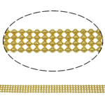 Brass Ball Chain, gold color plated, nickel, lead & cadmium free, 6.4x1.5mm, Length:Approx 100 m, Sold By PC